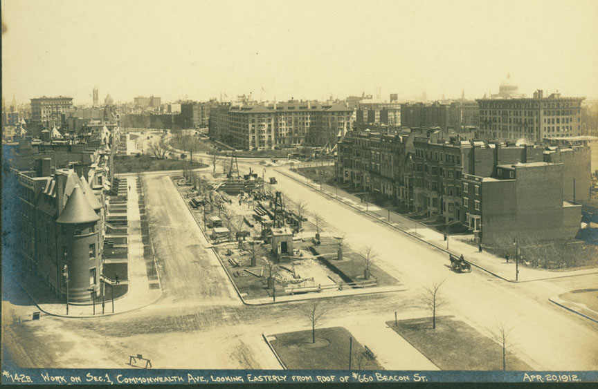 History of Commonwealth Ave, Boston MA - Warren St to the Back Bay
